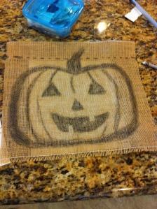 Halloween Burlap Flag